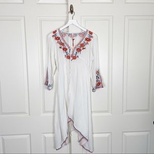 RAGA Embroidered Boho Dress / Coverup NWT